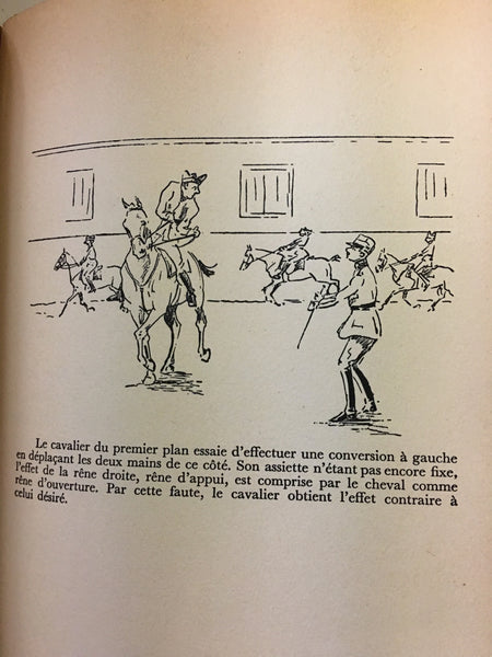 Precis D'Equitation  by Captaine Roland de Weck leatherbound with marbleized boards RARE 1945 out of print