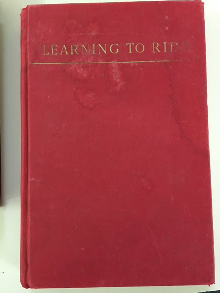 Learning to Ride gently used copy 1941 edition by Piero Santini