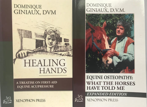 "Dominique Giniaux DVM books value bundle : ""Healing Hands""and ""Equine Osteopathy"""