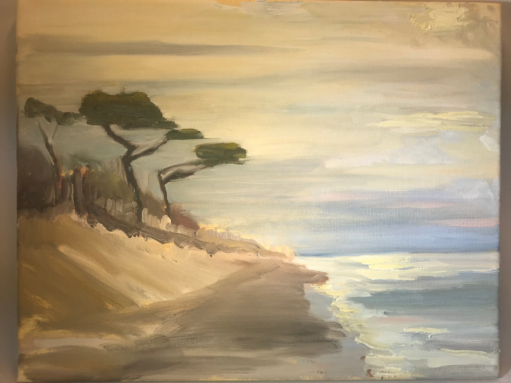 "Savage Neck Dunes - Original on canvas  by Richard F. Williams-11"" x 14"""