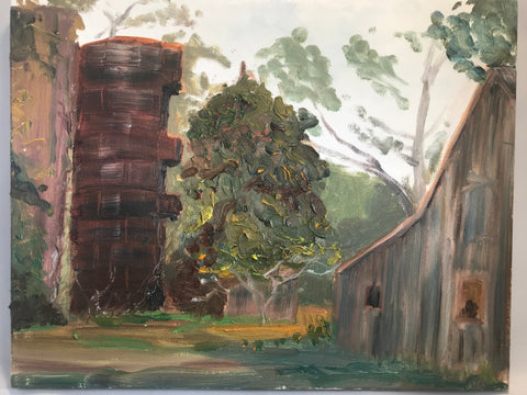 "Harborton Farm Study - Original on canvas  by Richard F. Williams-11"" x 14"""