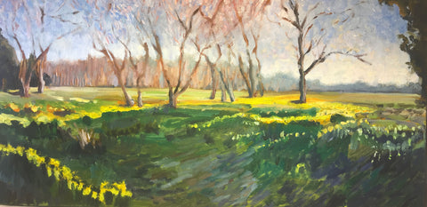 "Eyre Hall Jonquils by Richard F. Williams 24"" by 12"""
