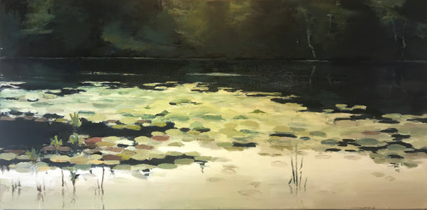 "Lake Gunther by Richard F. Williams 24"" by 12"""