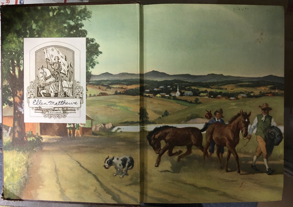 JUSTIN MORGAN HAD A HORSE 1954 hardcover by Henry, Marguerite, Illustrated by Wesley Dennis gently used copy
