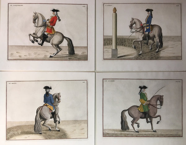 "Set of Four ""Modern Manege"" Giclee prints on acid-free archival Strathmore paper"