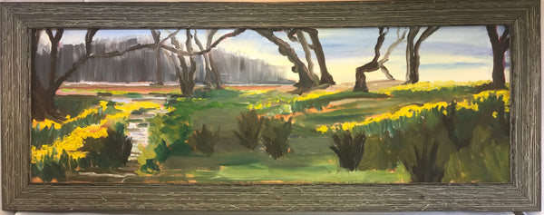 "Eyre Hall Daffodils by Richard F. Williams "" 24 by 8 """