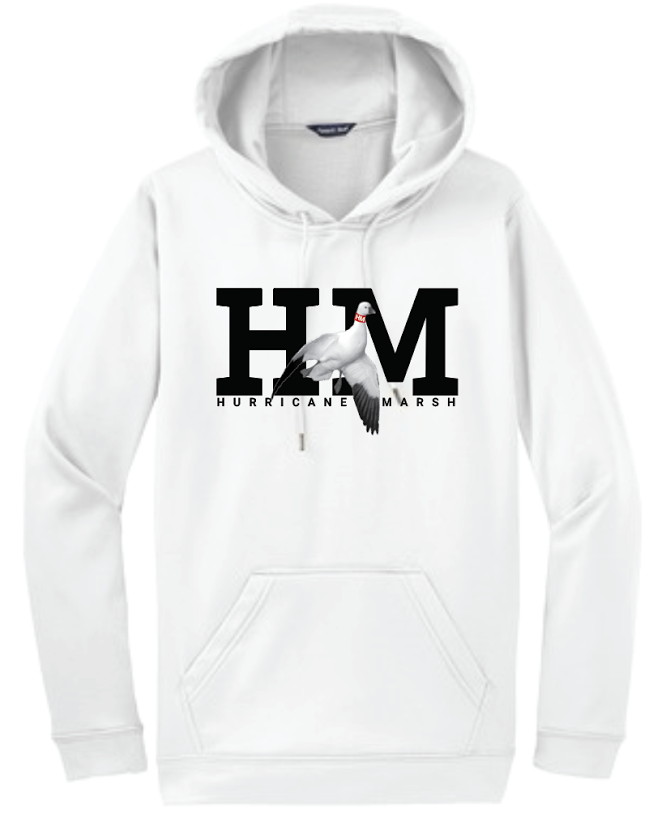 Hurricane Marsh Logo Cotton Snow Goose Hoodie