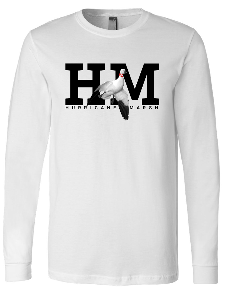Hurricane Marsh Logo Snow Goose Long Sleeve  Performance T-Shirt