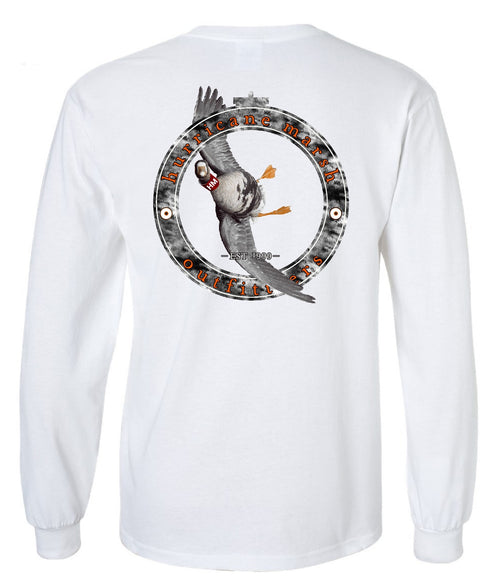 "Hurricane Marsh ""Tarbelly"" Long Sleeve T-Shirt White"