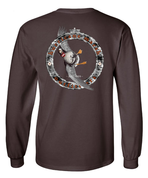 "Hurricane Marsh ""Tarbelly"" Long Sleeve T-Shirt Brown"