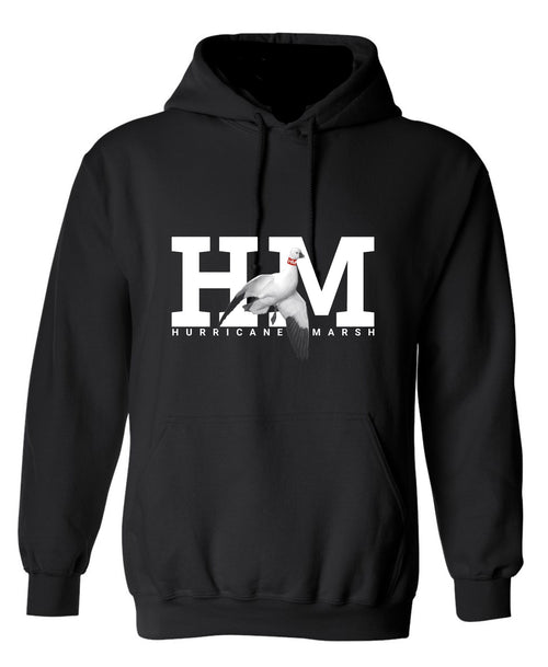 Hurricane Marsh Logo Performance Snow Goose Hoodie Black