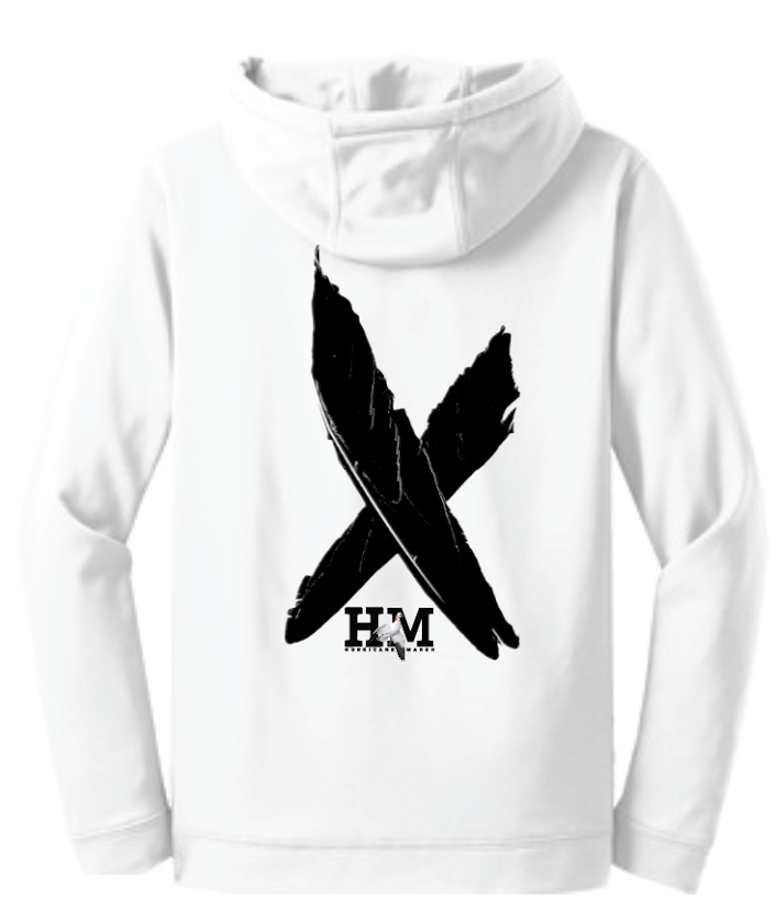 Hurricane Marsh Logo Performance Snow Goose Hoodie