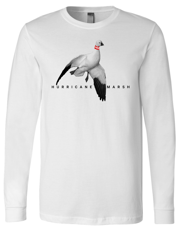 Hurricane Marsh Long Sleeve Snow Goose T-Shirt