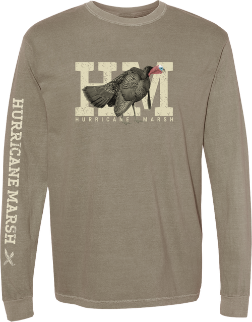 HM Khaki Long Sleeve Turkey T-Shirt