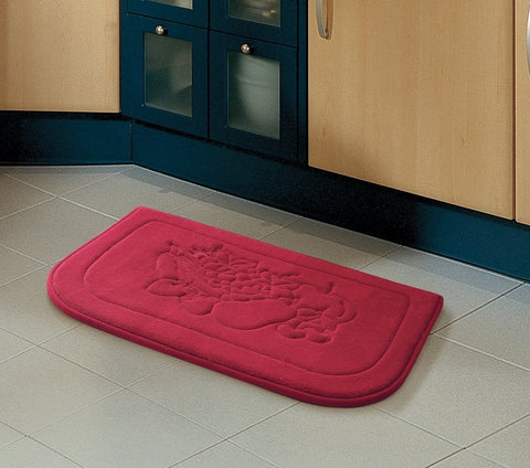 Red Fruit Memory Foam Anti Fatigue Kitchen Floor Mat Rug ...