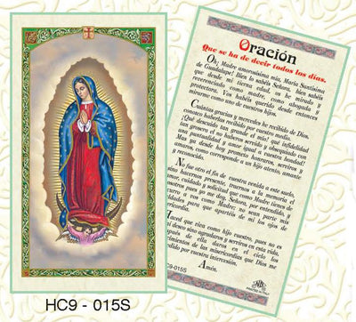 Laminated Prayer Cards in Spanish