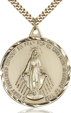 Large 14Kt. Gold Filled Miraculous Medal
