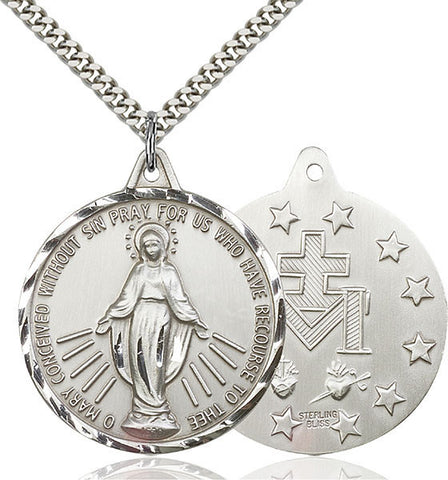 Large Sterling Miraculous Medal