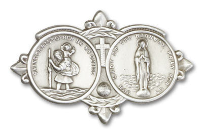 Car Visor Clip - Our Lady of the Highways/St. Christopher