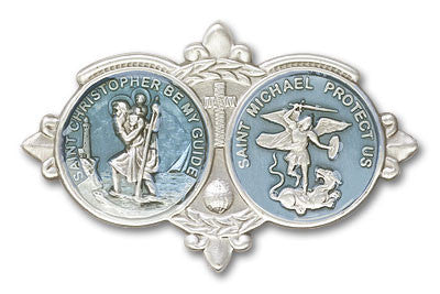 Car Visor Clip - St. Christopher/St. Michael