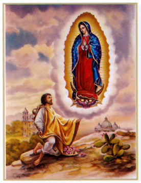 St. Juan Diego and Our Lady of Guadalupe Poster