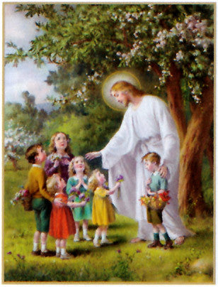 Jesus with the Children Poster