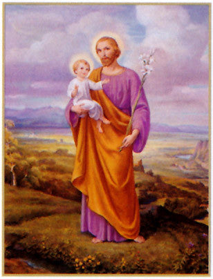 St. Joseph and Child Poster