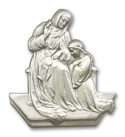 Car Visor Clip - St. Anne and the Child Mary