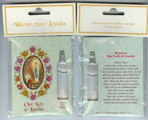 Lourdes Water with Prayer Card (Pack of 12)