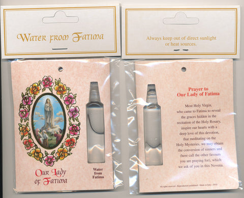 Fatima Water with Prayer Card (Pack of 12)