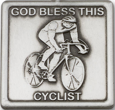 Car Visor Clip - God Bless This Cyclist