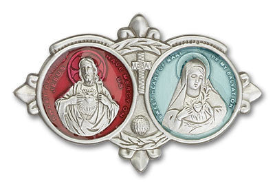 Car Visor Clip - Jesus and Mary