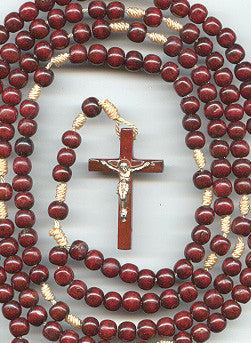 15 Decade Corded Wood Rosary - Discount Catholic Store