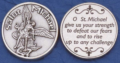 Saint Michael Religious Pocket Coin
