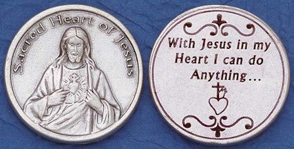 Sacred Heart of Jesus Religious Pocket Coin
