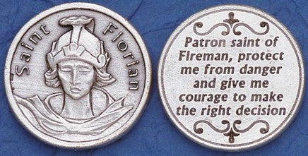 St. Florian Religious Pocket Coin