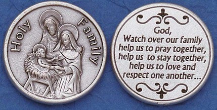 Holy Family Religious Pocket Coin