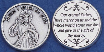 Divine Mercy Religious Pocket Coin