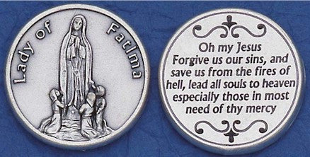 Fatima Religious Pocket Coin