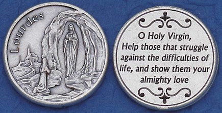 Our Lady of Lourdes Religious Pocket Coin