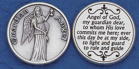 Guardian Angel Religious Pocket Coin
