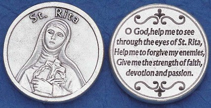 St. Rita Religious Pocket Coin