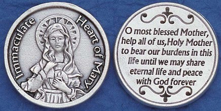 Immaculate Heart of Mary Religious Pocket Coin