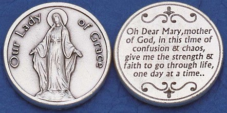 Our Lady of Grace Religious Pocket Coin
