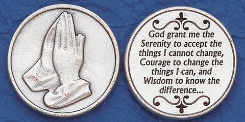 Serenity Prayer Religious Pocket Coin