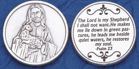 Psalm 23 Religious Pocket Coin