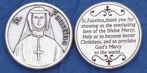 St. Faustina Religious Pocket Coin