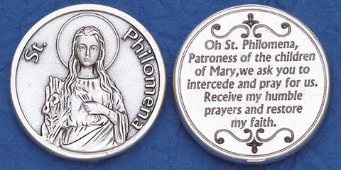 St. Philomena Religious Pocket Coin
