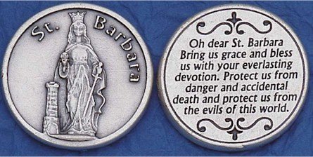 St. Barbara Religious Pocket Coin
