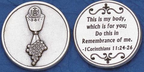 First Communion Religious Pocket Coin